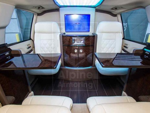 Alpine Armoring | Armored SUV | Cadillac Escalade ESV Limo Customized Package