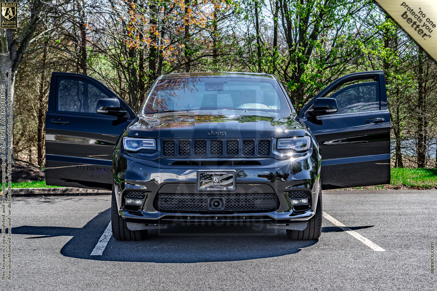 New Inventory armored Jeep Grand Cherokee SRT Level A9/B6+  Exterior & Interior Images VIN:7542
