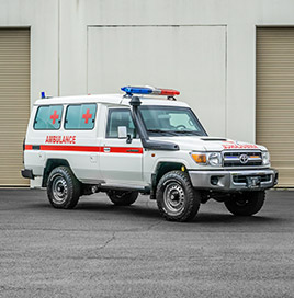 Alpine Armoring | Armored Ambulance| Toyota Land Cruiser 78 Series