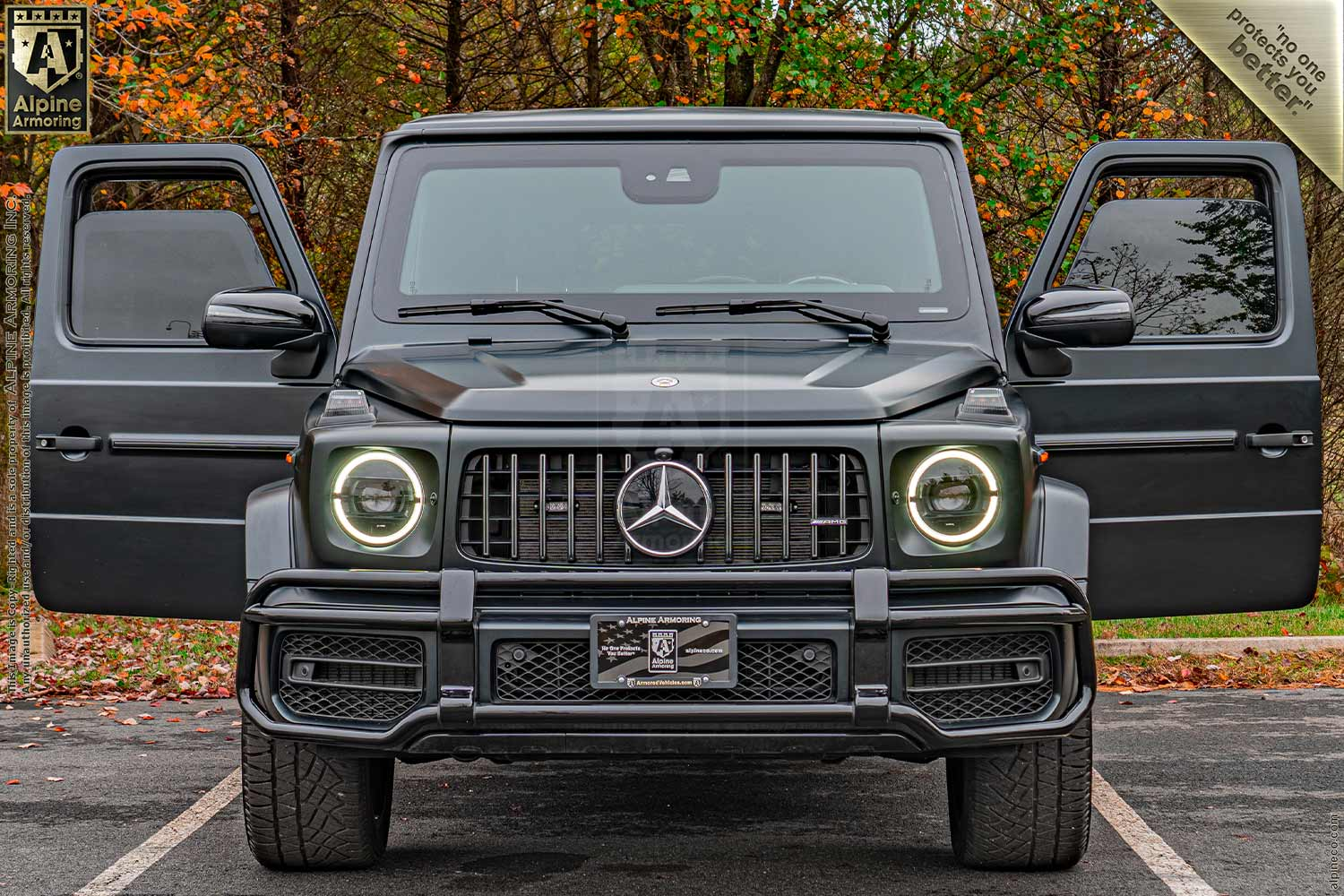 New Inventory armored Mercedes-Benz G63 Level A9/B6+ Exterior & Interior Images VIN:1485