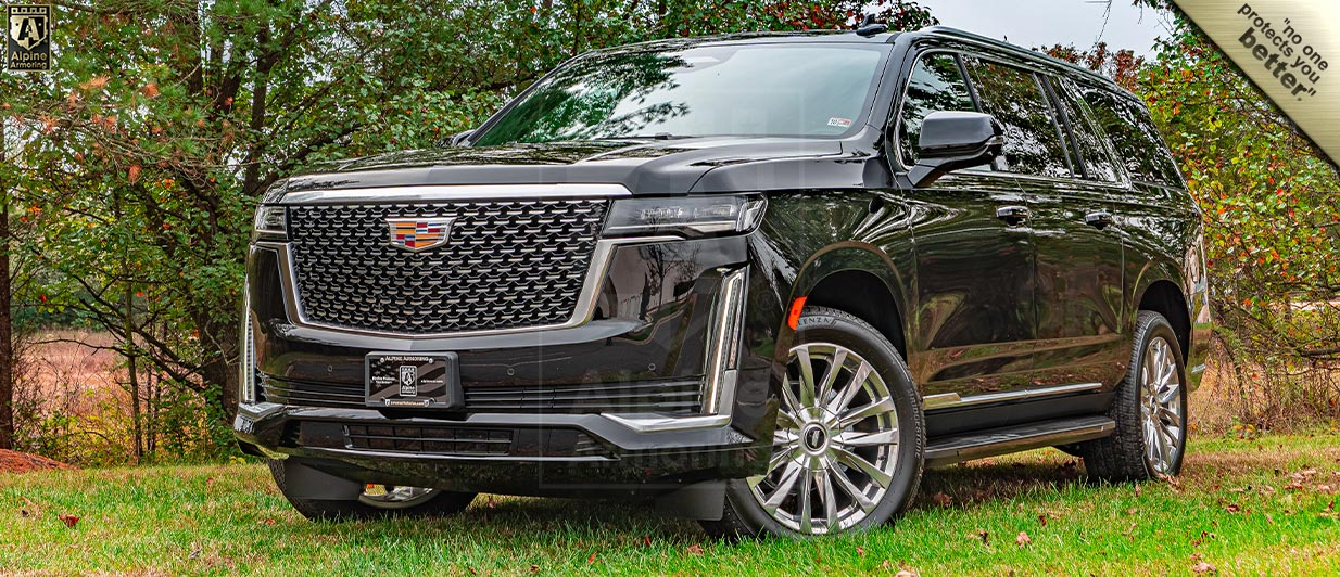 Armored Bulletproof 2021 Cadillac Escalade ESV In Stock Now | Alpine Armoring® USA